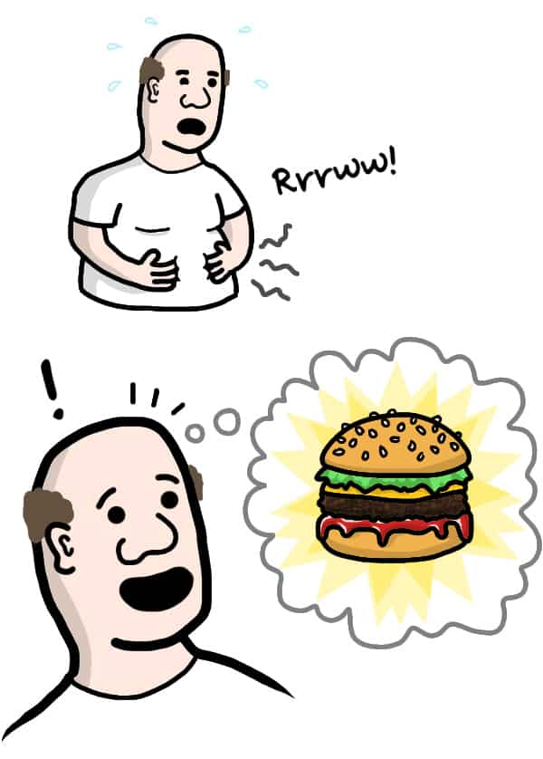 Når man craver en burger med ketchup
