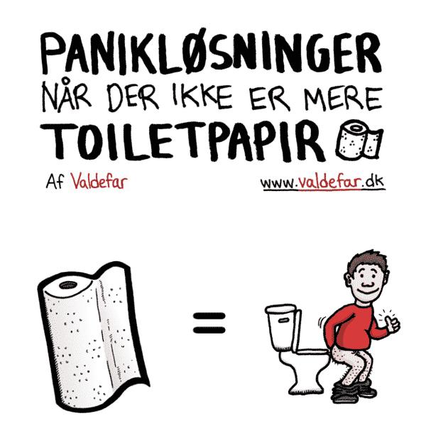 Panikløsninger når der ikke er mere toiletpapir