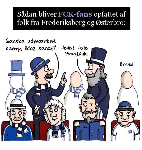 Sådan bliver FCK-fans opfattet af folk fra Frederiksberg og Østerbro