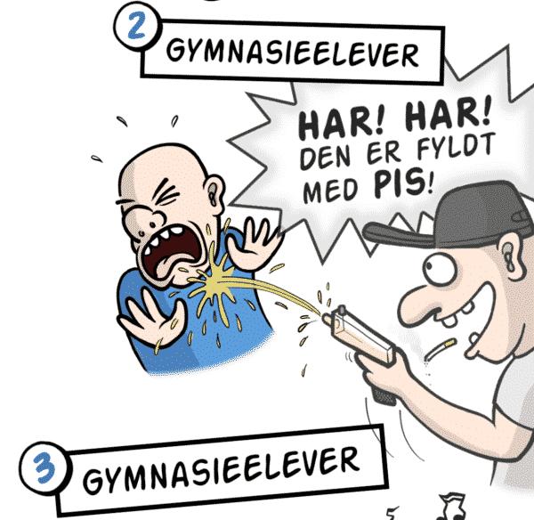 1. Svenskerhuller. 2. Gymnasieelever.