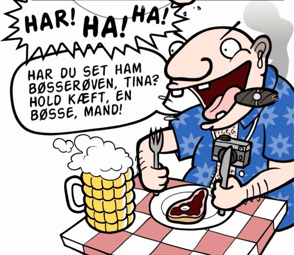 Idioten, der råber på caféer og restauranter