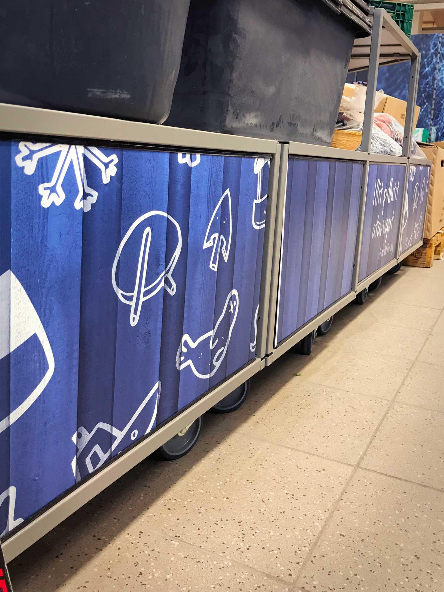 Ikoner for Grønlands største supermarked, Pilersuisoq