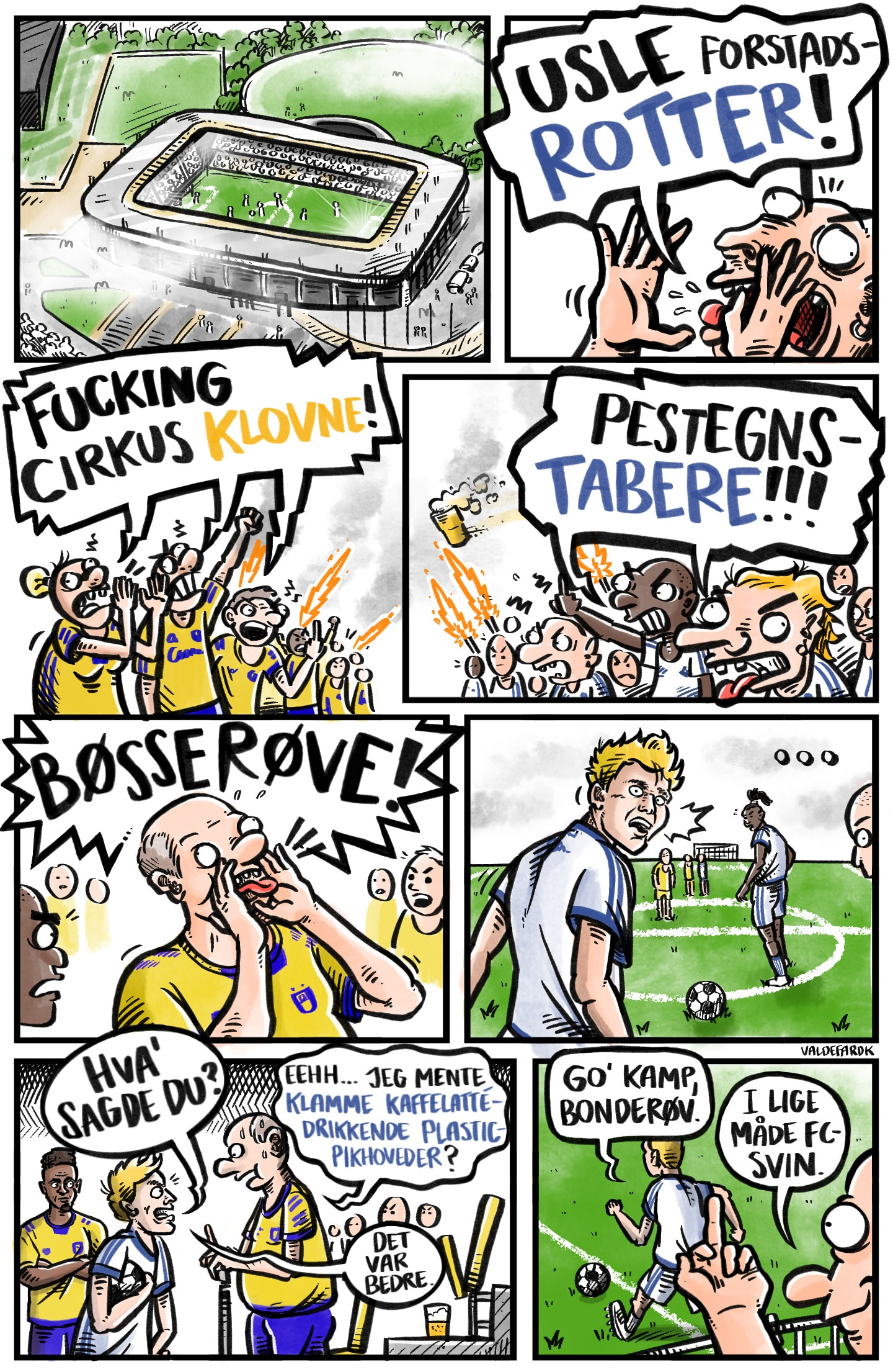 Må man råbe 'bøsse' til en fodboldkamp?