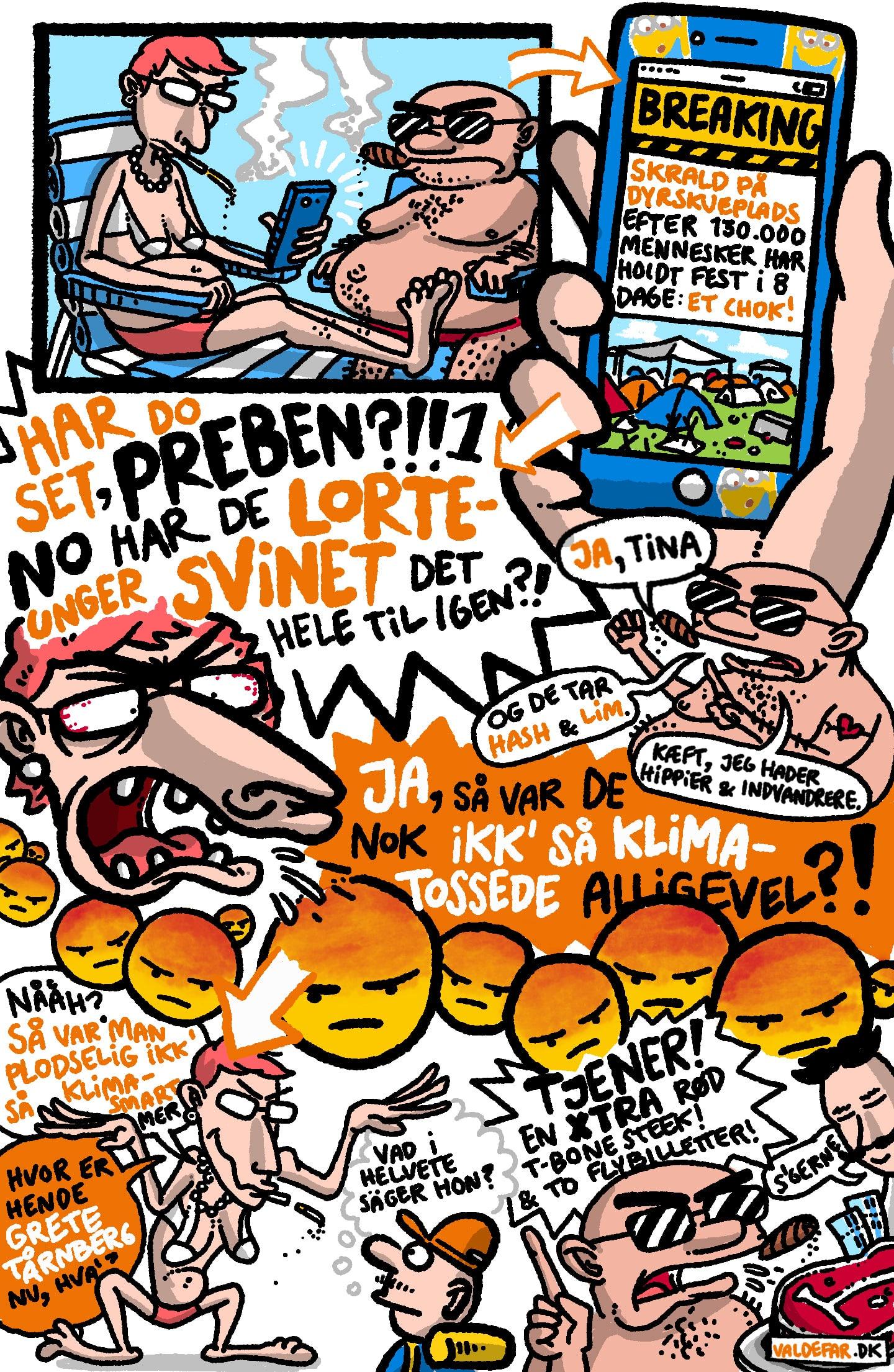 Klima på Roskilde Festival: De ældre generationer synes, at de unge festaber på Roskilde Festival er en flok hyklere