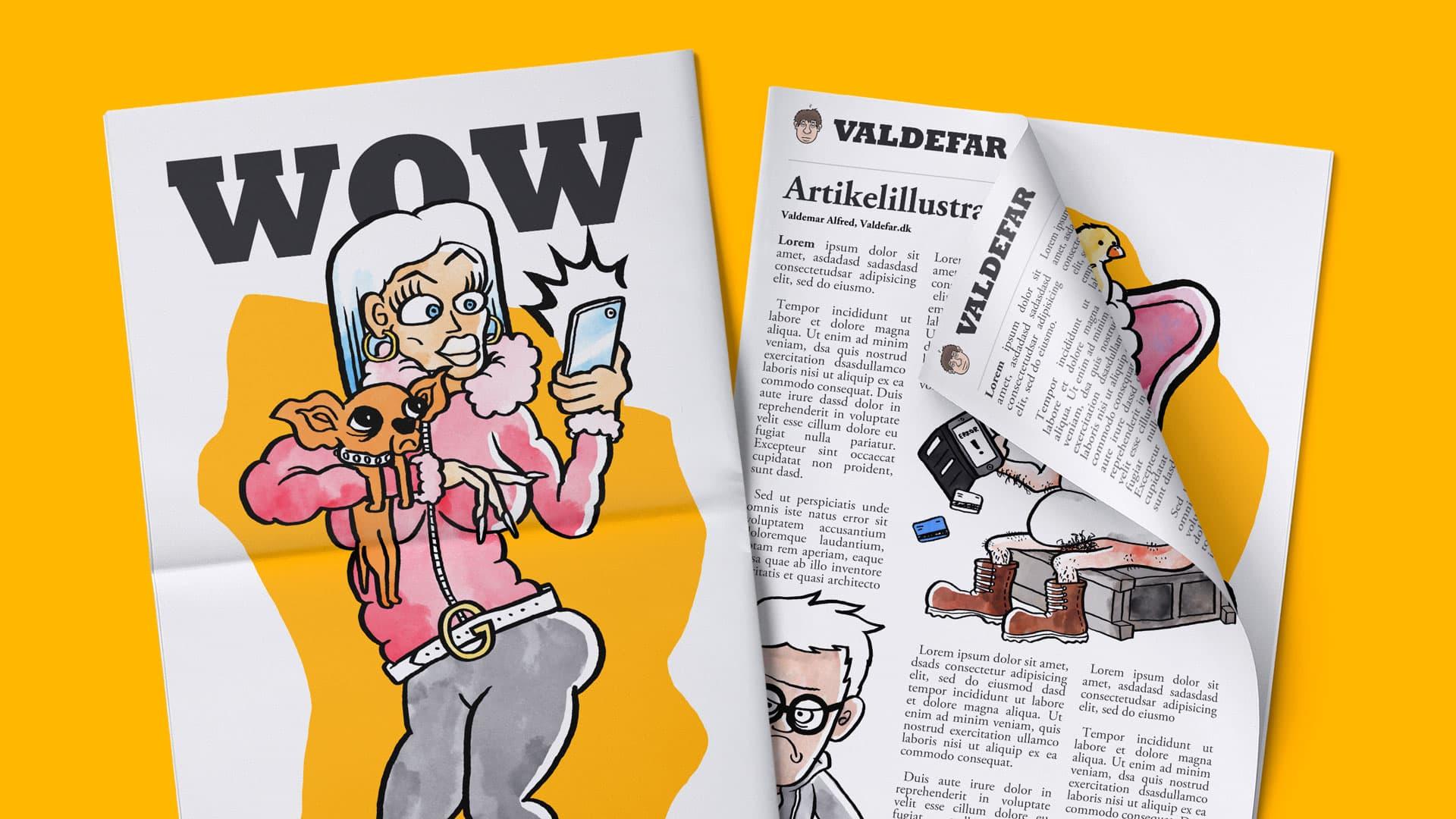 Illustration & bestillingsarbejde – Artikelillustration