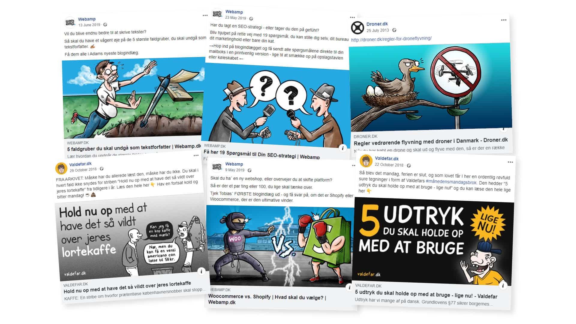 Illustration & bestillingsarbejde – Illustrationer til sociale medier
