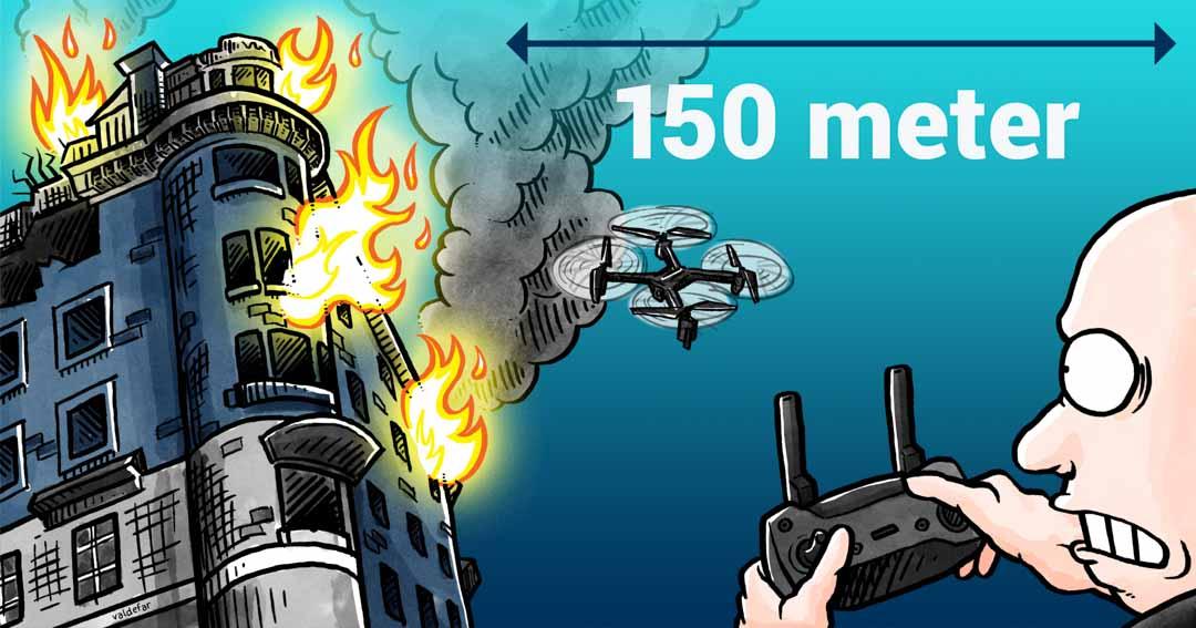 Teknisk illustration for Droner.dk: Uheldssteder
