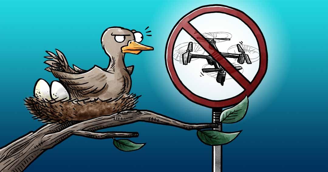 Teknisk illustration for Droner.dk: Naturområder