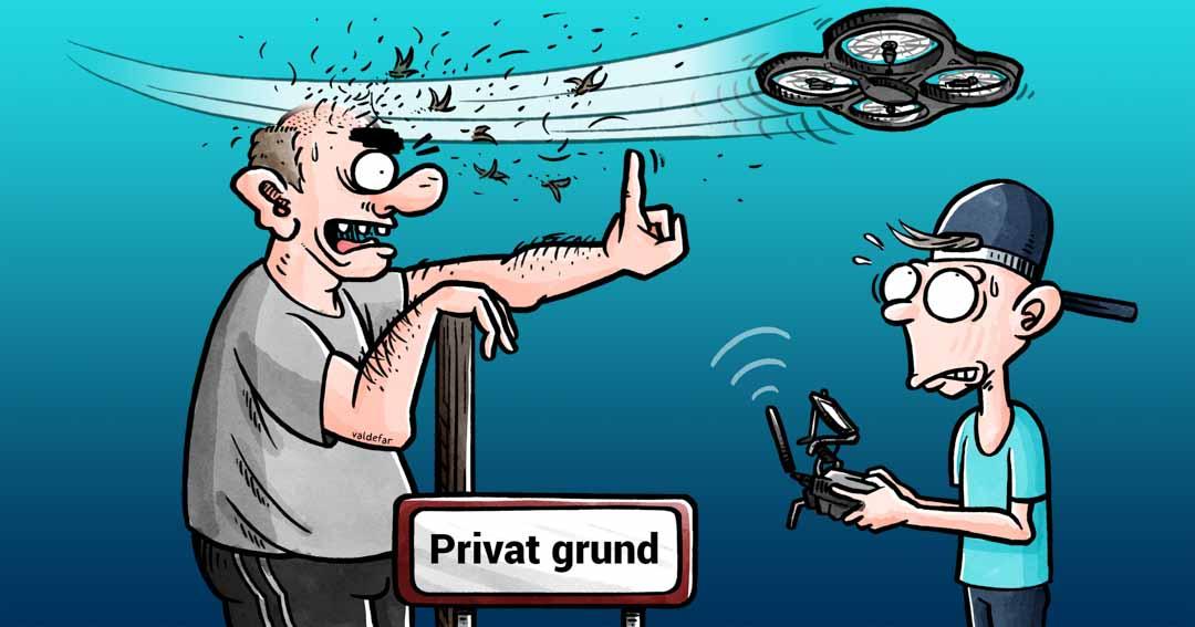 Teknisk illustration for Droner.dk: Privat grund