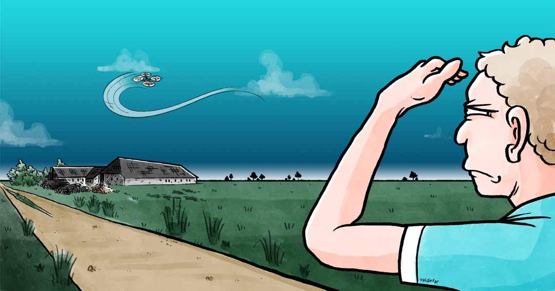 Teknisk illustration for Droner.dk: Synsvidde