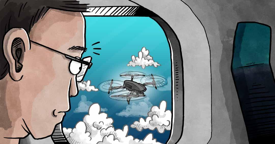 Teknisk illustration for Droner.dk: Overvågning luftrum