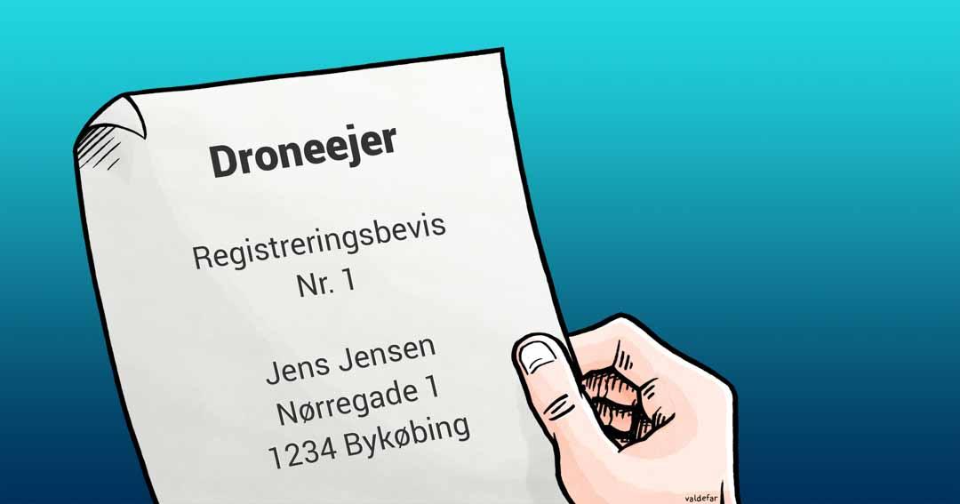 Teknisk illustration for Droner.dk: Dronebevis