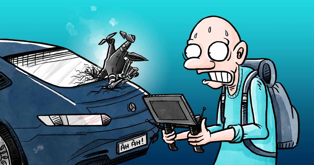 Teknisk illustration for Droner.dk: Forsikringer