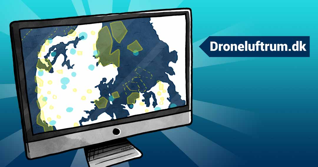 Teknisk illustration for Droner.dk: Droneluftrum