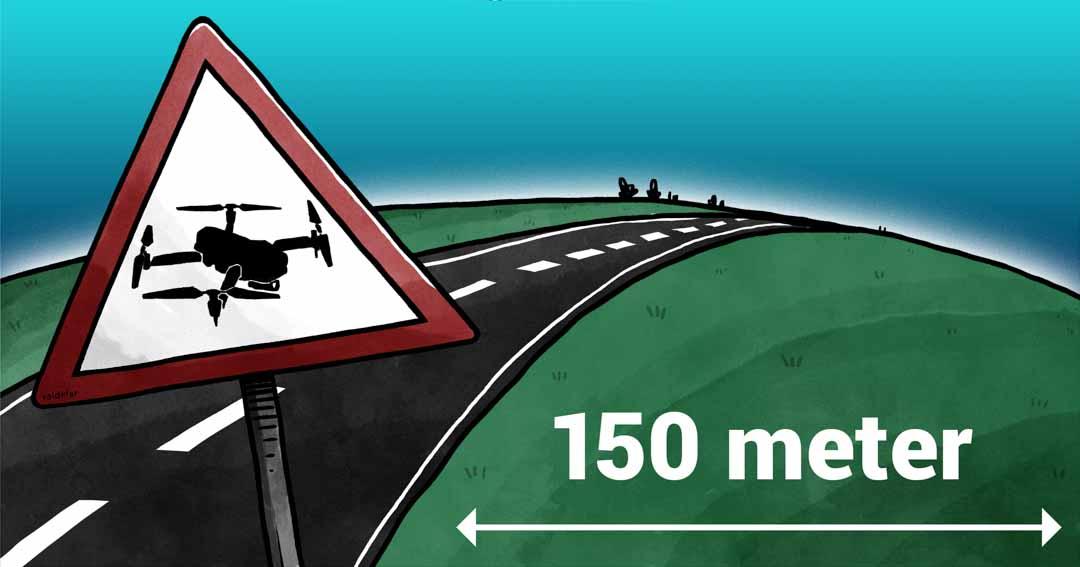 Teknisk illustration for Droner.dk: Offentlige veje