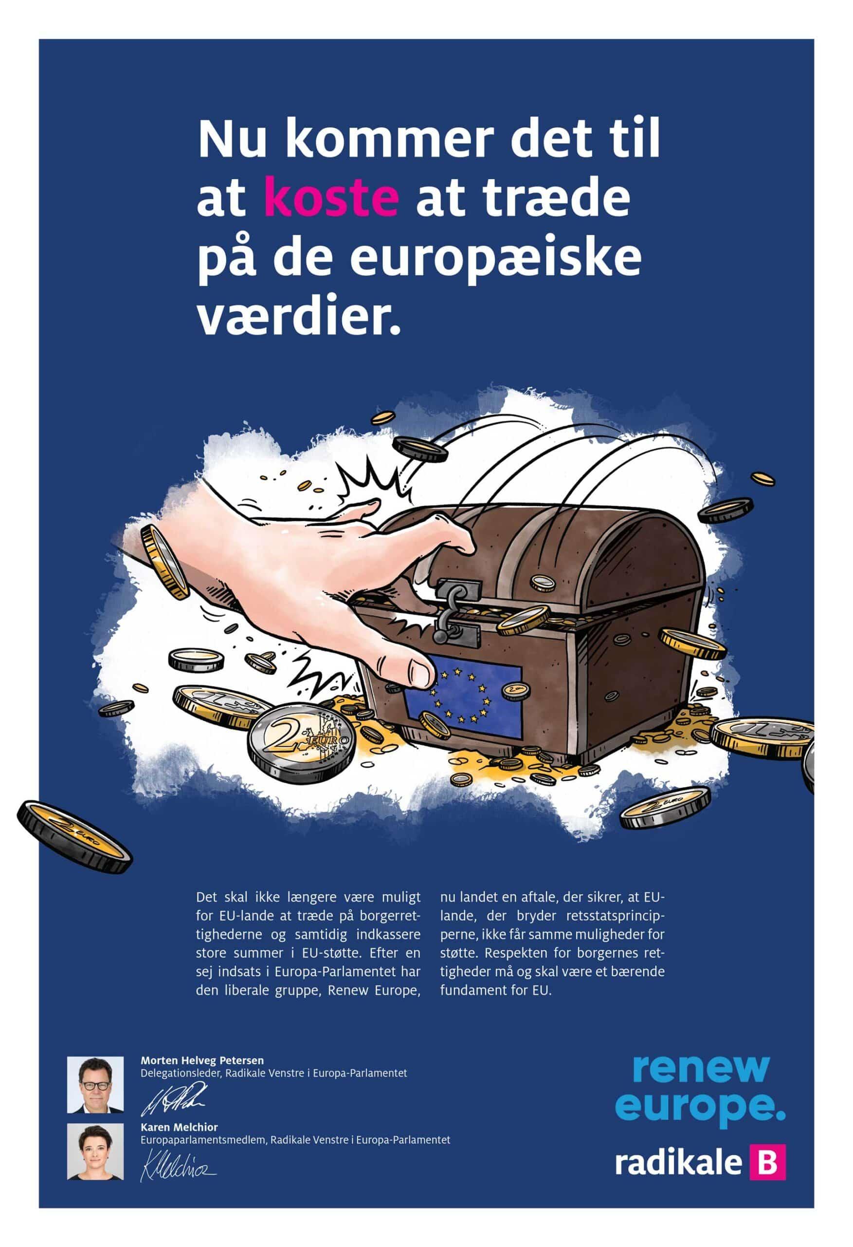 Artikelillustrationer for Radikale Venstre: Nu kommer det til at koste at træde på de europæiske værdier