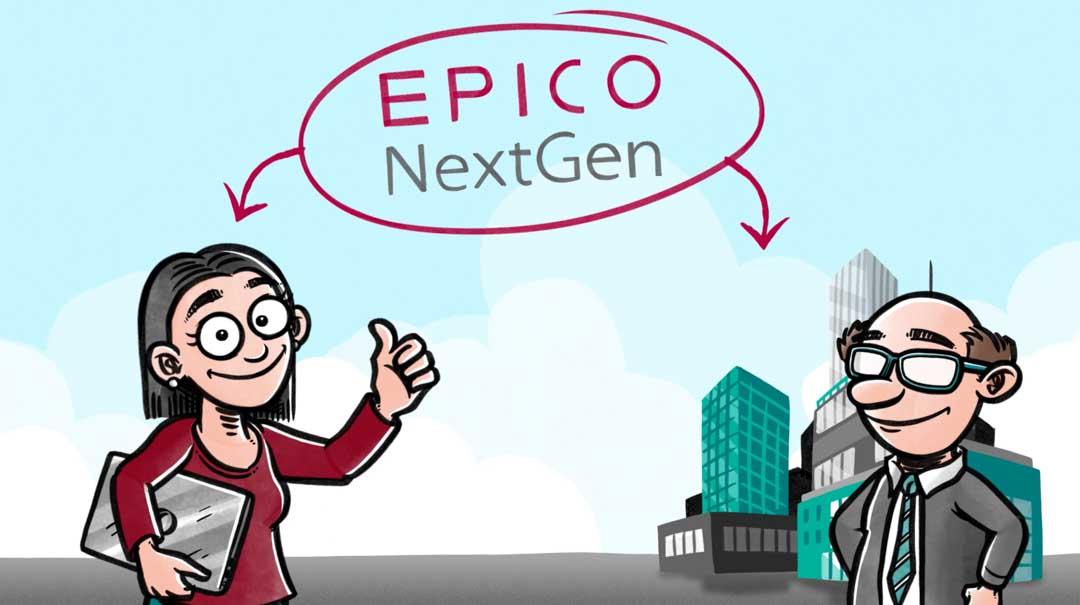 Screenshot fra explainervideo for EPICO NextGen