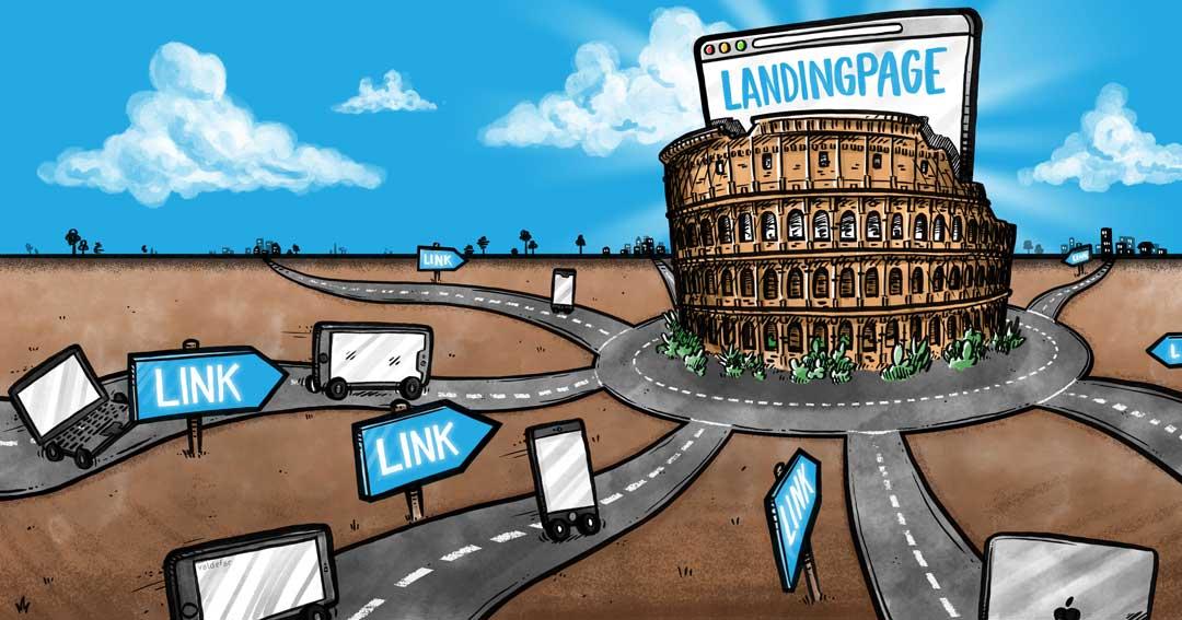Blogillustrationer for Webamp.dk: Linkbuilding Rom