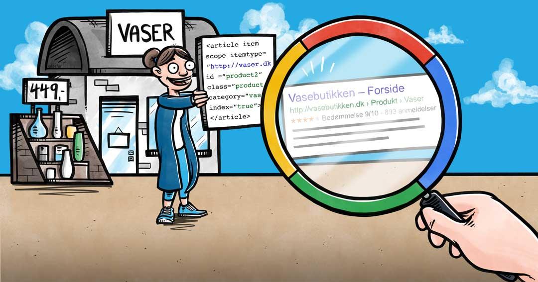 Blogillustrationer for Webamp.dk: Hvad er schemakoder?