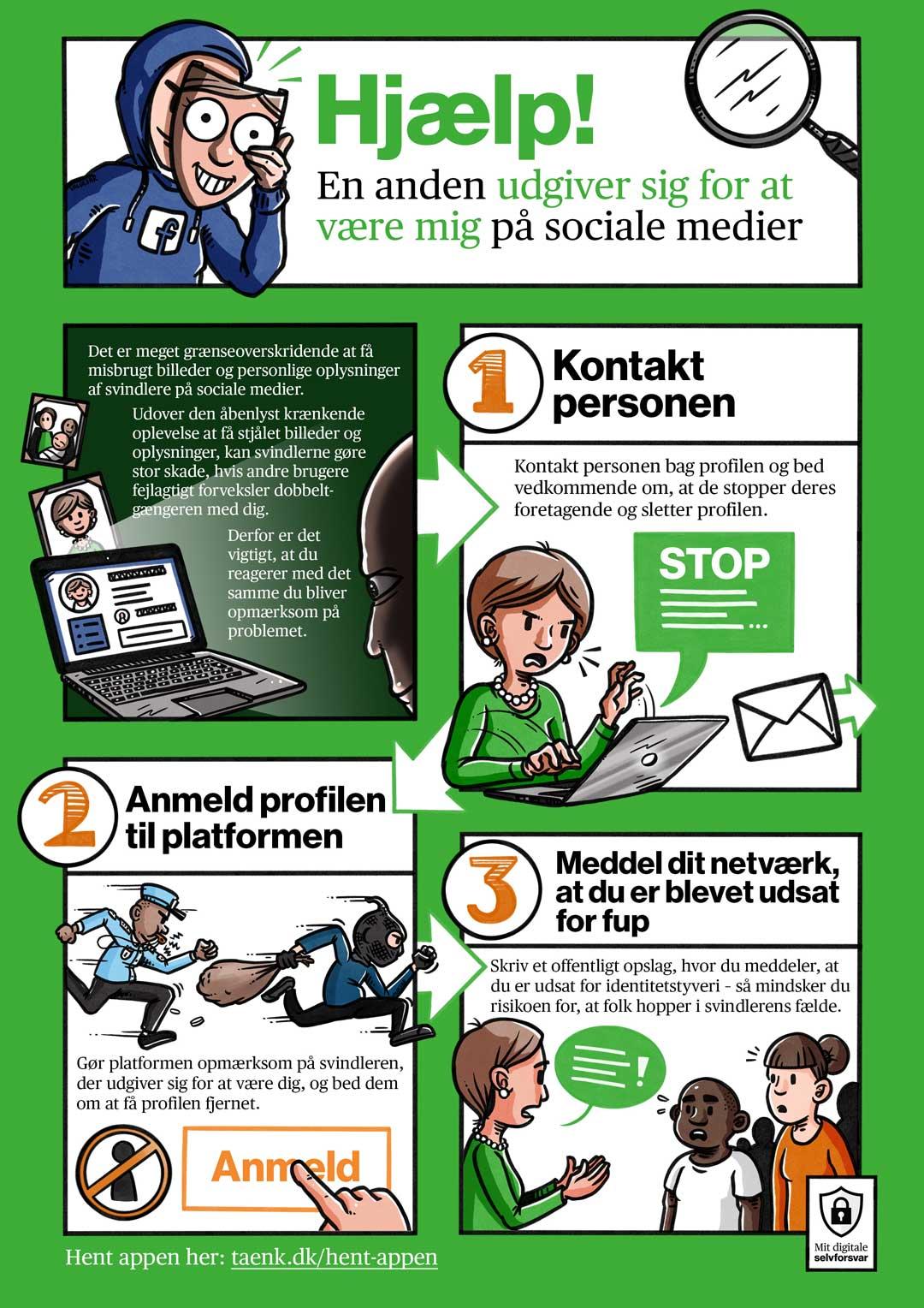 Stribe for Forbrugerrådet TÆNK: Hjælp! En anden udgiver sig for at være mig på sociale medier